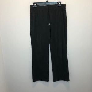 REI black fleece flare leg pants Small Petite